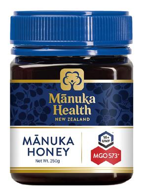 自生マヌカ花蜜100%の純粋はちみつ マヌカハニーMGO573+ ファッション通販 UMF16+ 国内即発送 マヌカヘルス 富永貿易 250g