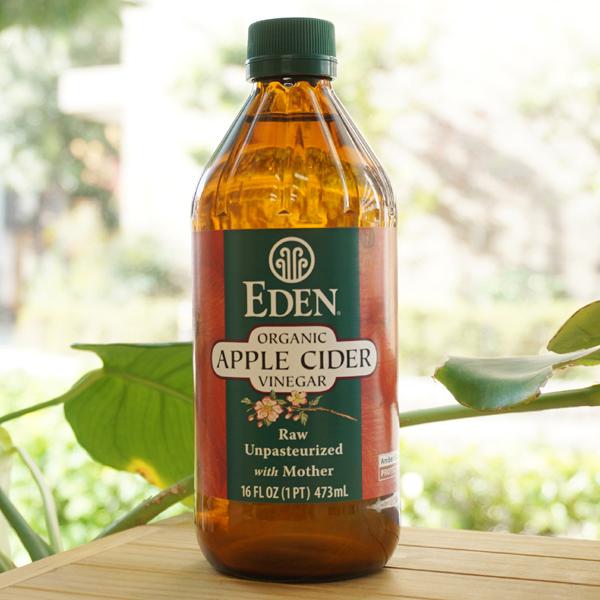 有機JASオーガニック認定非加熱 EDEN オーガニックアップルサイダービネガー 送料無料激安祭 Organic Apple 開催中 473ml Vinegar アリサン Cider
