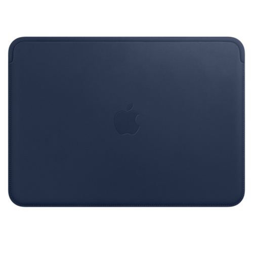 Apple(アップル) MQG02FE/A 12インチMacBook用レザースリーブ - ミッドナイトブルー