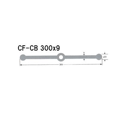 ポリビン止水板センターバルブ型フラットCF-CB300mm×9mm×20m巻 グレー
