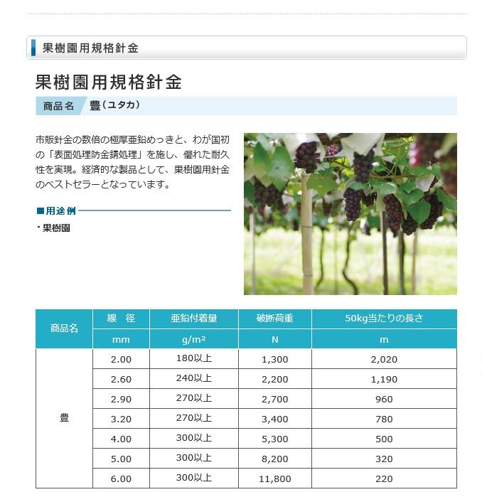 果樹園用針金 豊2.6ミリ 50kg巻#12 約50kg /巻サクラテック製