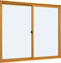 *YKKAP プラマードU 引違い窓(単板ガラス)2枚建 サイズ2-4高さ400×幅900