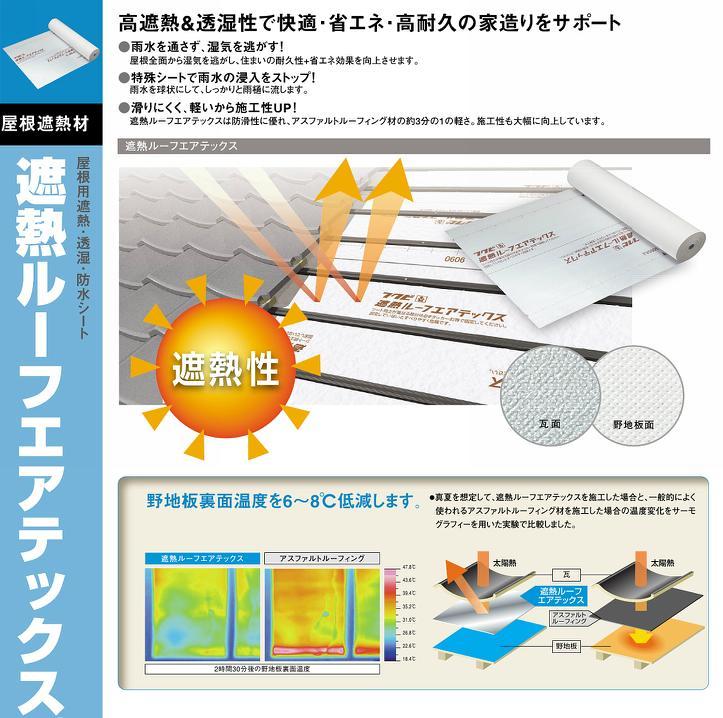*屋根用透湿防水シート 遮熱ルーフエアテックス 1巻  1mx40m 屋根下地材 フクビ