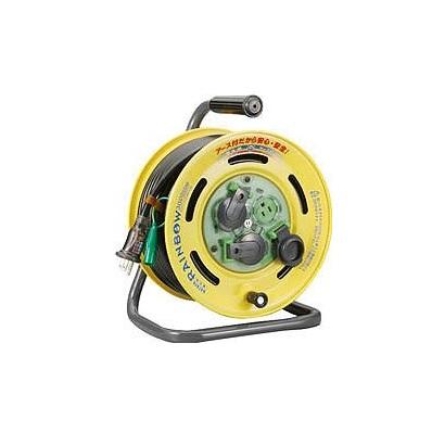 *ハタヤ コードリール 電工ドラム 【BE-30K】30mサーモカット付 レインボーリール漏電遮断器付き