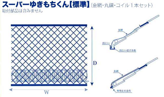 *スーパーゆきもちくん(金網・丸鋼・コイル1本セット)SW2000-D700(株)キョーワ