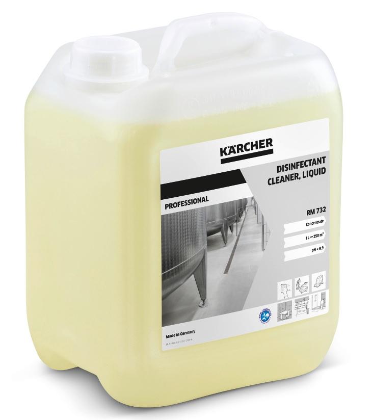 送料無料 ケルヒャー 洗浄剤RM732 5L KARCHER 4C 開催中 業務用除菌洗浄剤 5リットル適合機種BR30 新着 BR30 4CBp等