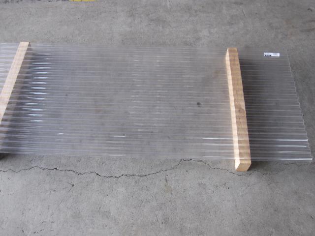 *【カット不可】【三菱樹脂製】ポリカ波板 長さ7尺(約2120mm) クリアマット 10枚入セット ポリカ―ボネート 浪板
