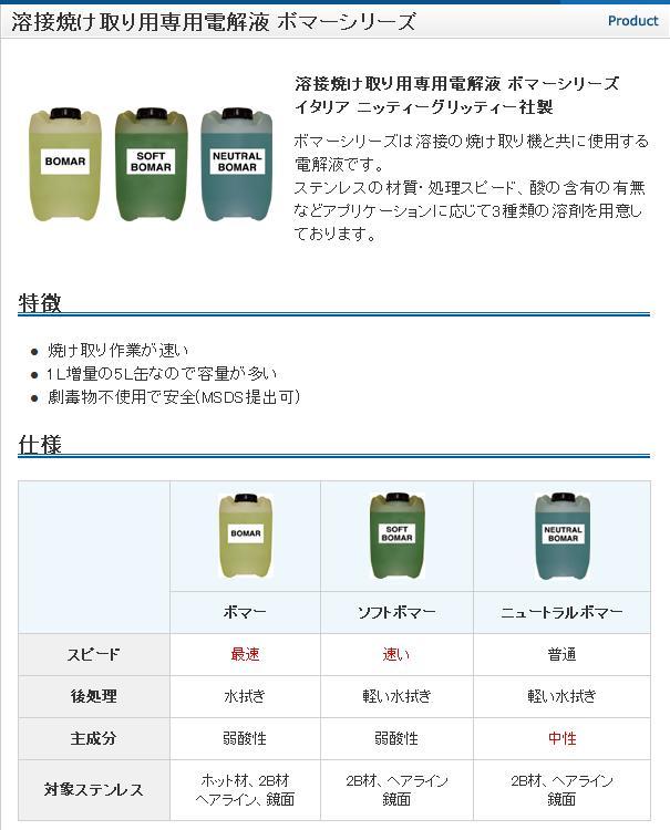 *クリノックス 焼け取り専用電解液 ボマーシリーズ 5L缶 【エスティジェイ】