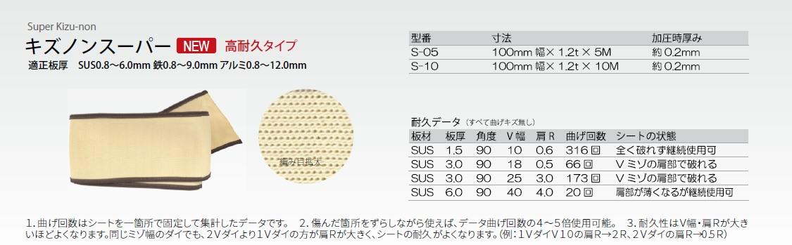 *東栄工業 キズノンスーパー【S-05 s05】100mm幅x5m長さ 1本入り (代金引不可)