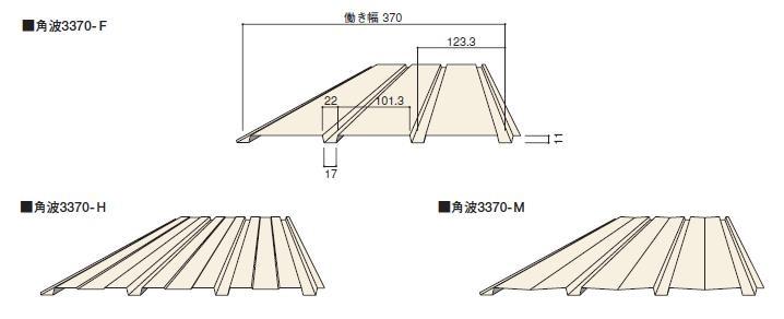 カラートタン0.3mm 角波3山(3370)長さ6尺(1818mmm)カラー鋼板 10枚入セットガルバリウム鋼板製 (トタン) 外壁材【ニスクPro】
