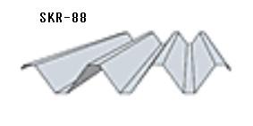 ■カーポート・車庫屋根材■ルーフデッキ88タイプ●色:ガルバリウム素地●働き幅:600mm●板厚:0.8mm ●結露防止材付 *カーポート屋根材 88 タイプ無塗装 厚み0.8mm  長さ5000mm(裏全面フォームエース4ミリ貼)折板(セッパン)金属屋根 車庫屋根材 ルーフデッキ