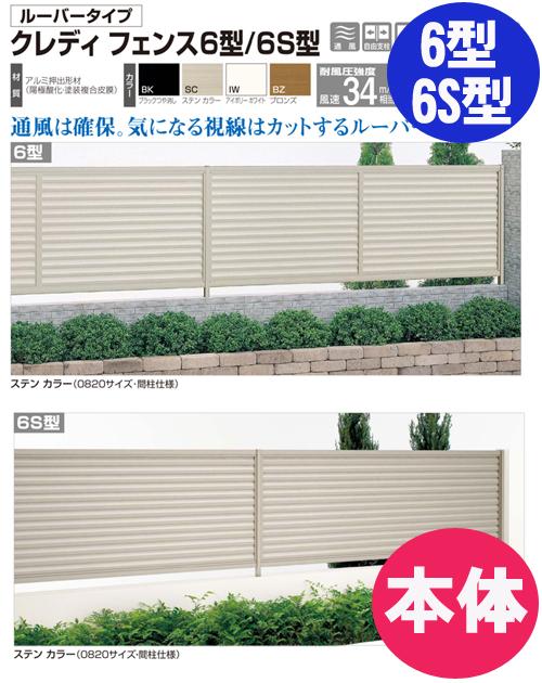 【送料無料】フェンス【四国化成】 クレディフェンス6S型(本体)H1,000mm×W1,974mm