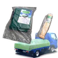 エステル帆布トラックシート 4号・2.66m×4.6m トラックロープ9mm×20mセット 激安特価 帆布地だから強度は抜群。耐候性に優れ、長期の使用が可能