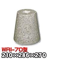 束石・塚石 603柱石丸型(貫通穴タイプ)本磨き仕上げWRI-70 天端7寸 寸法(天×底×高)210×286×270mm