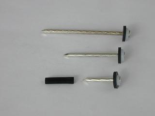 駐車場・駐輪場専用ラインテープ ブーブーライン ブーブー釘 アスファルト用 L65mm 100本入り BBNA-100