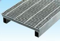 グレーチングVS側溝タイプかさ上げ細目滑止付グレーチング本体寸法mm 695×997×55×140mm 長さ997mm 高さ110mmWKVS-X69‐955A 平型パッキン付タイプ