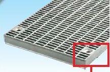 グレーチング一般側溝用ボルト固定 細目ノンスリップ 本体寸法650×997×55mm 形式記号WZS-X(F)65‐955グレーチング本体のみ