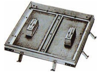 フロアーハッチ(床点検口)KAFH-400(歩道用・モルタル用)外枠440mm角 アルミニウム目地 床 点検 口 床点検口 アルミ 激安特価