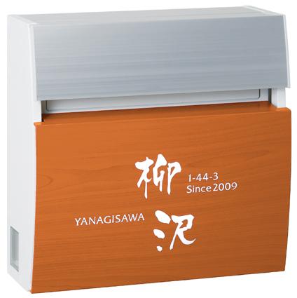 表札 戸建 表札郵便ポスト名入りポスト Panasonic FASUS POST(パナソニック フェイサス ラウンドタイプ) PRF-6-6(白) 丸三タカギ 激安表札