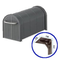 郵便ポストリクシル(LIXIL) エクスポスト アメリカンタイプ A-1型 壁掛け仕様Bセット 送料無料