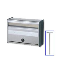 激安郵便ポスト 郵便受け TOEXポストLS-1型 ポール建て専用タイプ 送料無料