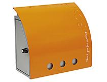 激安郵便ポスト 郵便受け Russell post(ラッセルポスト) オレンジ 壁掛・鍵付タイプ nl-p10or 送料無料