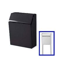 激安郵便ポスト 郵便受け リクシル(LIXIL) エクスポスト プレイン ブラック ポール建てセット 送料無料