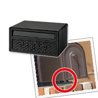 郵便ポスト 郵便受け 三協立山アルミ ポスト KA-1型 ジェーブラック 上置き部品セット 送料無料