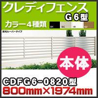 クレディフェンスG6型本体CDFG6-0820 H800mm×W1,974mm 四国化成
