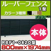 ルーバーフェンス1型本体RBF1-0820 H800mm×W1,974mm 四国化成
