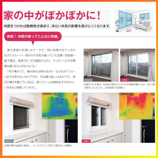 二重窓内窓二重サッシプラマードUYKKAP4枚建引違い窓単板ガラス横繁吹寄格子和紙調3mmW2001~3000H1201~1400mm