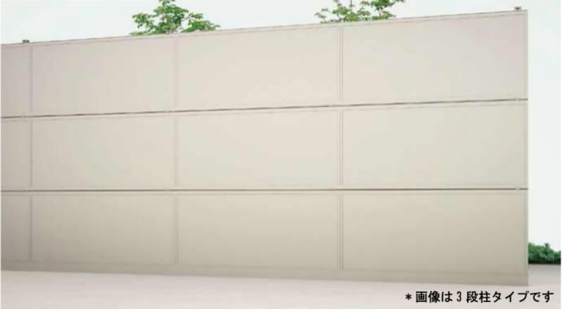 フェンス LIXIL 防音フェンス すやや R1型(遮音パネル) 2段柱 H1800(H800+H1000) 全高1723 W1998 kenzai