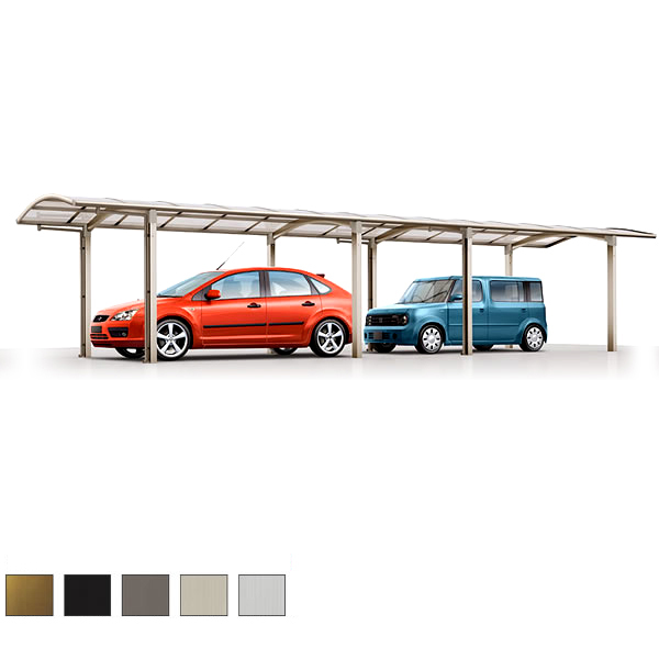 カーポート 2台駐車場 リクシル カルエードシグマ 1台用 縦連棟 一般タイプ 5027 W2741×L9922 駐車場 車庫 ガレージ 本体 kenzai