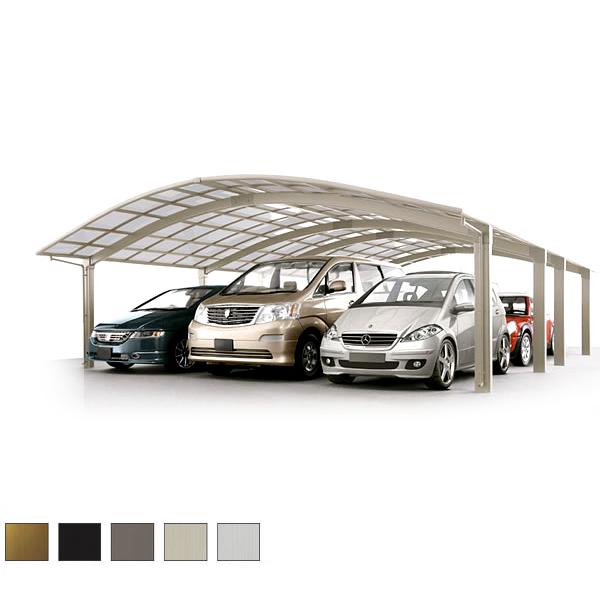 【5月はエントリーでP10倍】LIXIL/リクシル カーポート 3台用+二輪車用 リベルポートシグマIII 延長 一般タイプ 5680 W8008×L6836 駐車場 車庫 ガレージ 本体 kenzai