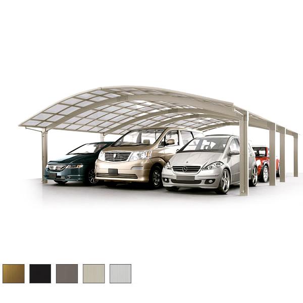 【5月はエントリーでP10倍】LIXIL/リクシル カーポート 6台用 リベルポートシグマIII 縦連棟 一般タイプ 5680 W8008×L11162 駐車場 車庫 ガレージ 本体 kenzai