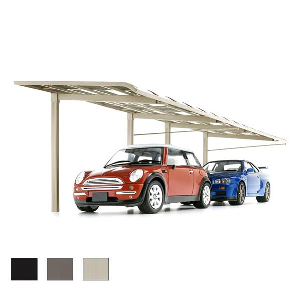 カーポート 2台駐車場 リクシル レガーナポートシグマ 雨樋なし 1台用 縦連棟 一般タイプ 5024 W2397×L9922 車庫 ガレージ 本体 kenzai