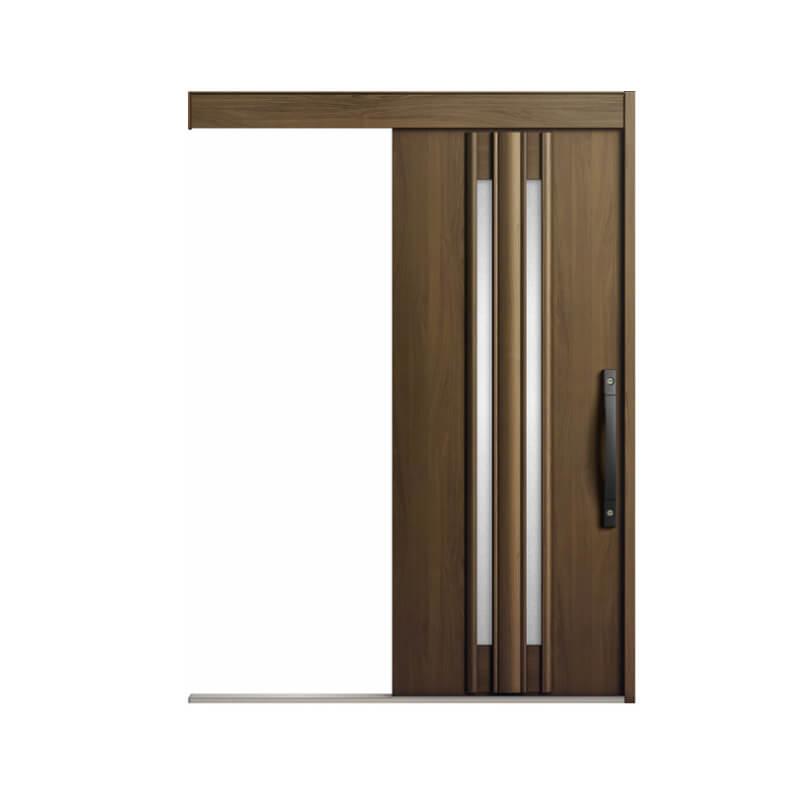 玄関引戸 リクシル エルムーブ2 L14型 一本引き 本体鋼板仕様 呼称W160 W1608×H2150mm 玄関引き戸 LIXIL/TOSTEM トステム 玄関ドア サッシ リフォーム DIY kenzai