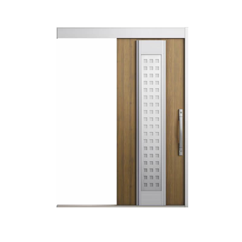 【5月はエントリーでP10倍】玄関引戸 リクシル エルムーブ2 L81型 一本引き 本体鋼板仕様 呼称W160 W1608×H2150mm LIXIL/TOSTEM 採風 玄関引き戸 リクシル トステム リフォーム DIY kenzai