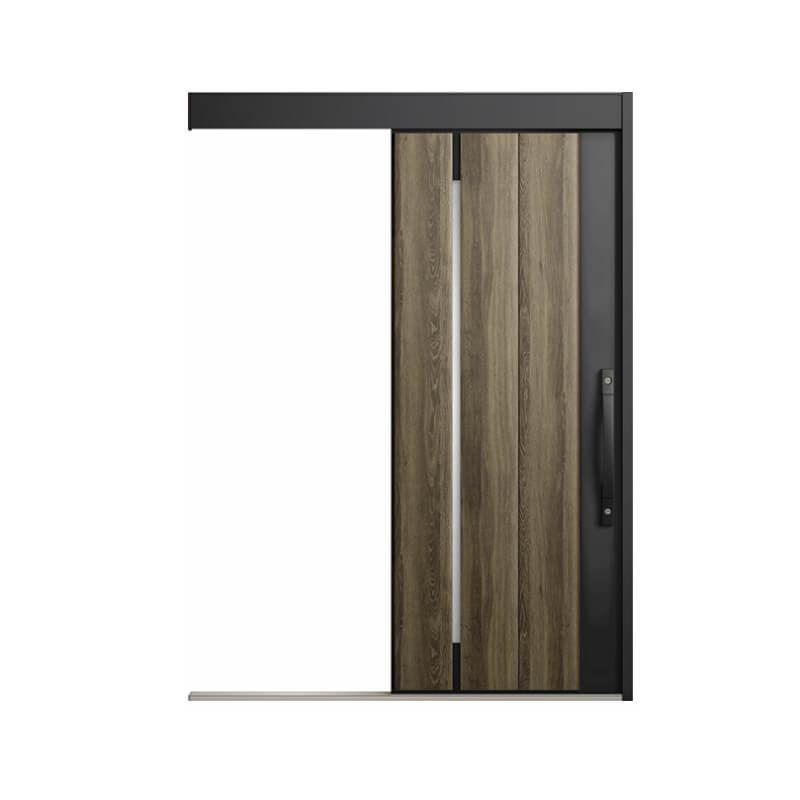 玄関引戸 リクシル エルムーブ2防火戸 L17型 一本引き 本体鋼板仕様 呼称W160 W1608×H2150mm 玄関引き戸 LIXIL/TOSTEM トステム 玄関ドア サッシ kenzai