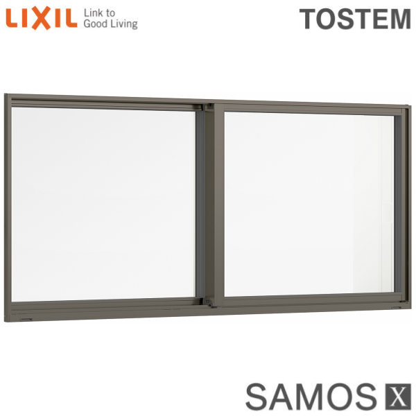 樹脂アルミ複合サッシ 引き違い窓 16007 W1640×H770 LIXIL サーモスX 半外型 トリプルガラス/ダブルLow-Eガラス (クリプトンガス入・アルゴンガス入) kenzai
