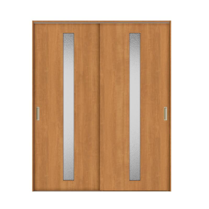 リクシル 室内引き戸 TA リビング 建具 引戸 ドア 扉 建具 室内引戸 TA Vレール方式 ノンケーシング枠 引違い戸 2枚建/EGA(カスミガラス) 1620 リクシル トステム ドア 交換 リフォーム DIY kenzaih