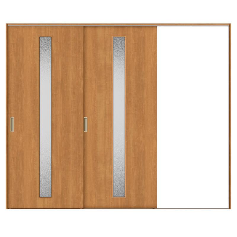 最新最全の 建具 リフォーム ドア トステム 交換 2枚建/EGA(カスミガラス) TA kenzaih:建材百貨店 室内引戸 DIY 片引戸 ノンケーシング枠 2420 リクシル Vレール方式-木材・建築資材・設備
