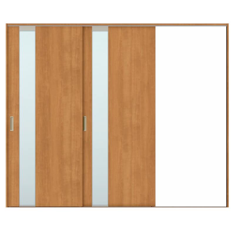 リクシル 室内引き戸 TA リビング 建具 引戸 ドア 扉 建具 室内引戸 TA Vレール方式 ノンケーシング枠 片引戸 2枚建/EGT(エッチングガラス) 2420 リクシル トステム ドア 交換 リフォーム DIY kenzaih