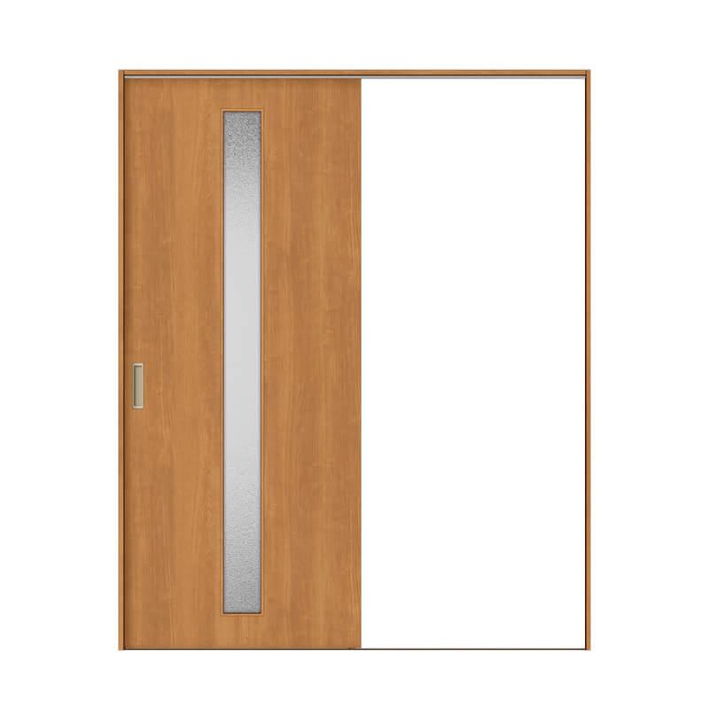 建具 室内引戸 TA Vレール方式 ノンケーシング枠 片引戸 標準タイプ/EGA(カスミガラス) 1420/1620 リクシル トステム ドア 交換 リフォーム DIY kenzaih