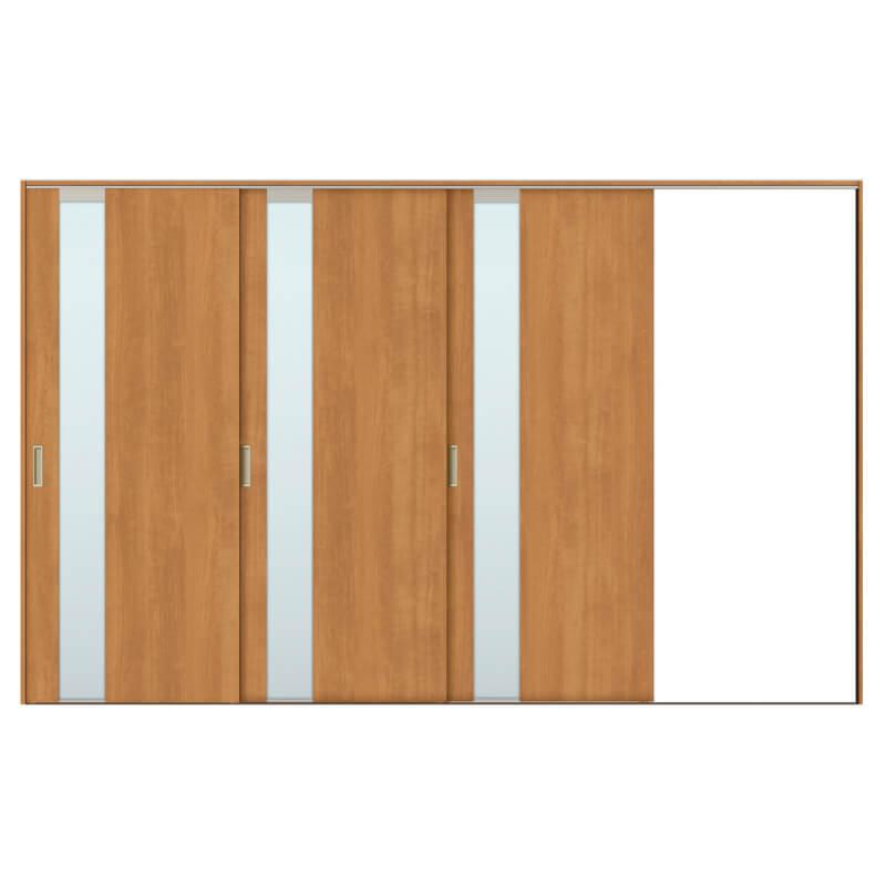建具 室内引戸 TA Vレール方式 ノンケーシング枠 片引戸 3枚建/EGT(エッチングガラス) 3220 リクシル トステム ドア 交換 リフォーム DIY kenzaih