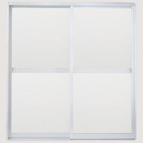 浴室引戸(引き戸) 枠付 引き違い戸 樹脂パネル H-12-17 W1215H1757 LIXIL/リクシル アルミサッシ 引違い kenzai