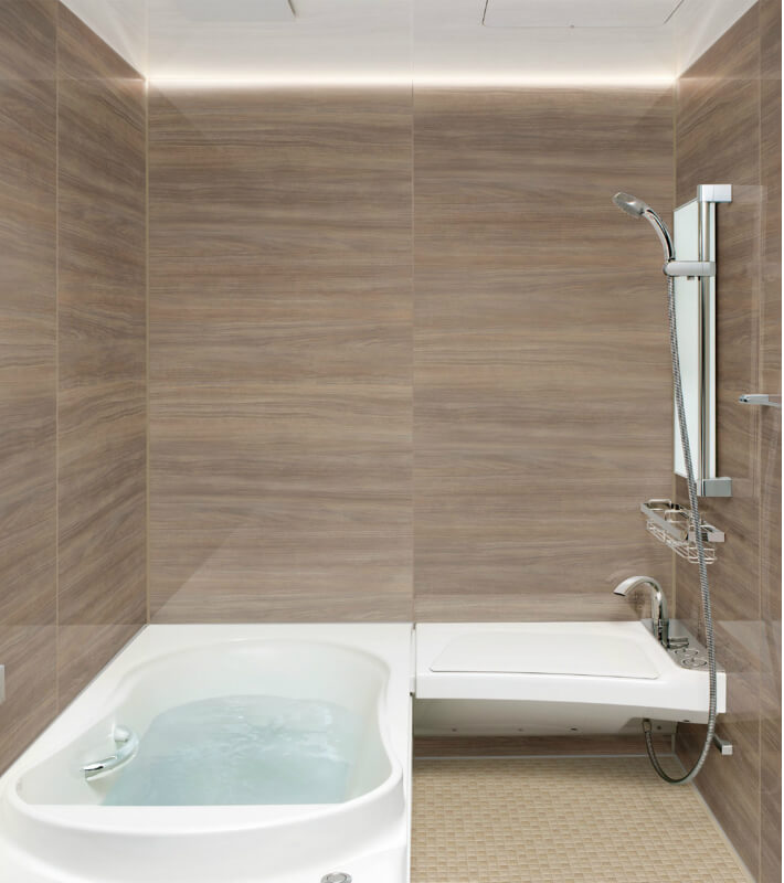 高級感ある浴室へのリフォームにおすすめシステムバス ユニットバス スパージュ リクシル LIXIL INAX 【エントリーでP10倍 11/31まで】システムバスルーム スパージュ CZタイプ B1717(1650mm×1650mm) サイズ 全面張り 戸建1階用ユニットバス リクシル LIXIL 高級 浴槽 浴室 お風呂 リフォーム kenzai