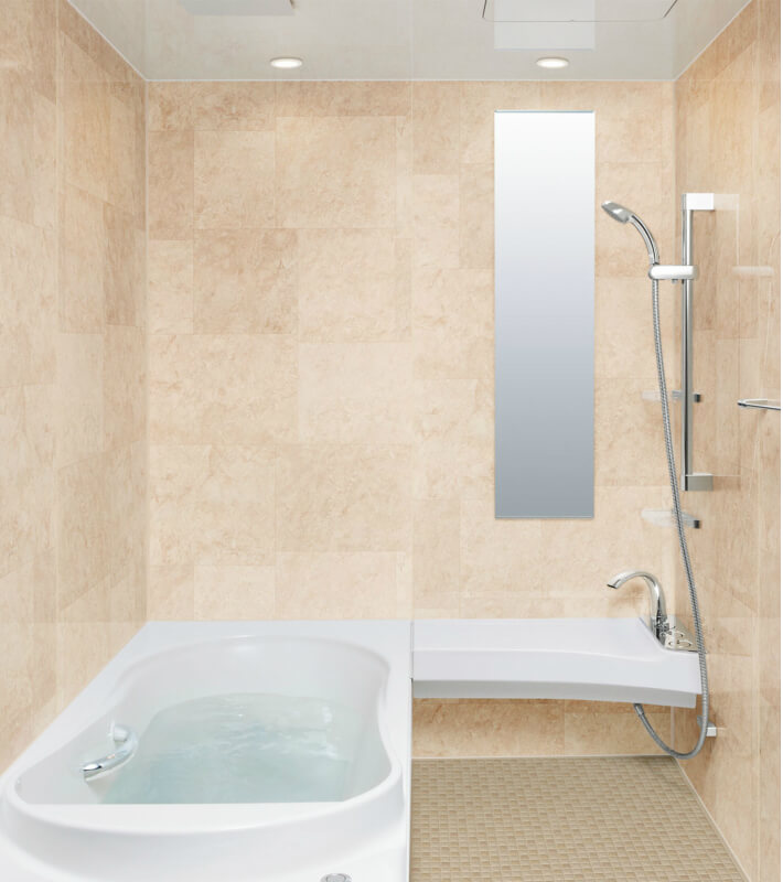 システムバスルーム スパージュ CXタイプ 1416(1400mm×1600mm) サイズ 全面張り マンション用ユニットバス リクシル LIXIL 高級 浴槽 浴室 お風呂 リフォーム kenzai
