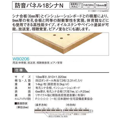 大建工業 防音パネル18シナN WB0206