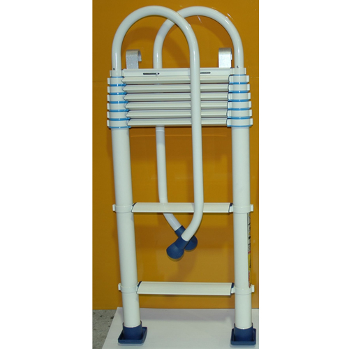 ブルズ伸縮ロフトはしごBRHSWH7(オフホワイト)